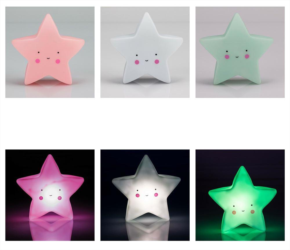Lámpara quitamiedos Estrella 3 colores.